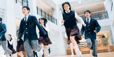 Japanisch Schule Mädchen Küssen